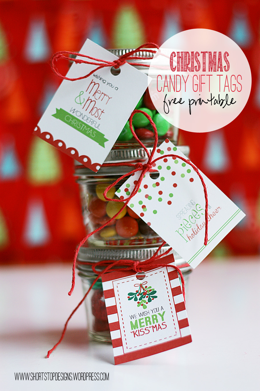Christmas Candy Gift Tags – Short Stop Designs