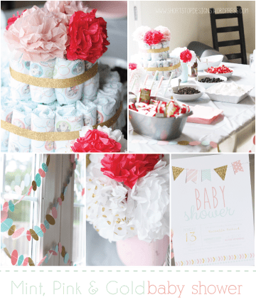 Baby-Shower-Mint-Pink-and-Gold