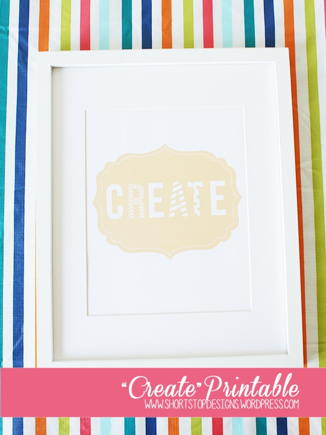 """Create"" Printable Display"