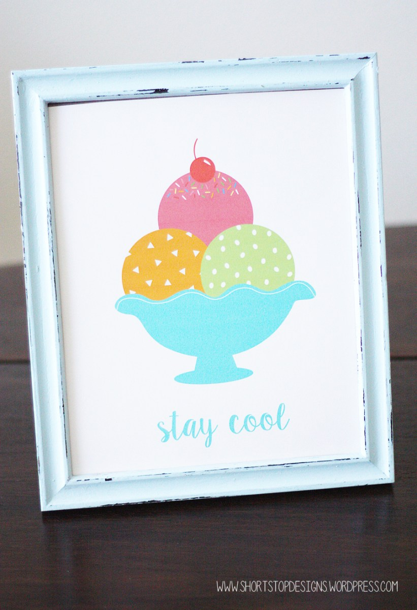 Ice Cream Printables - Invitations & Print
