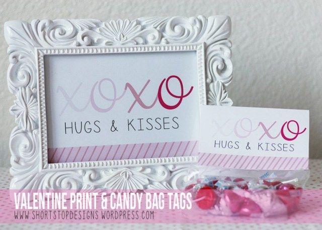 XOXO valentine's Day Candy and printable