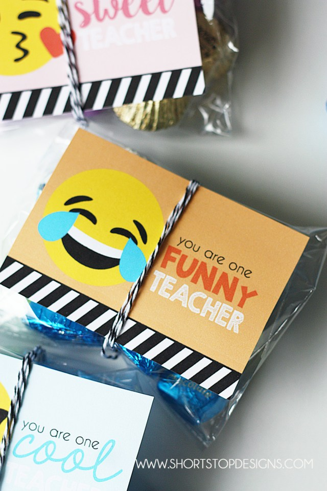 EMOJI TEACHER GIFT TAGS PRINTABLE