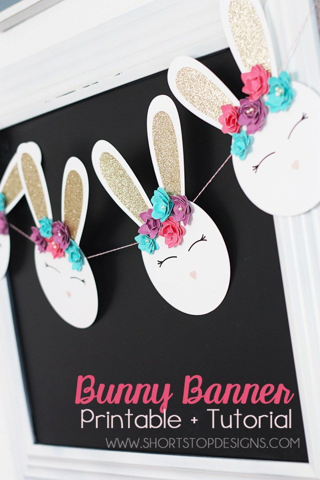 NURSERY BUNNY BANNER display