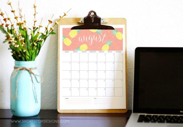 2018 Calendar Free Printable