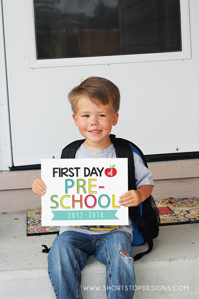 First Day Of School Sign 2017-2018