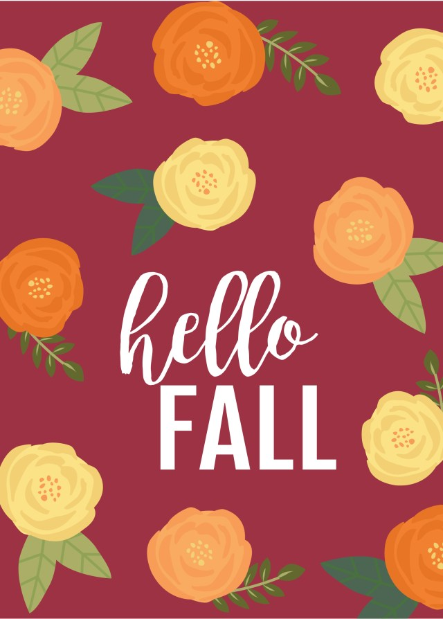 Hello Fall Phone Wallpaper