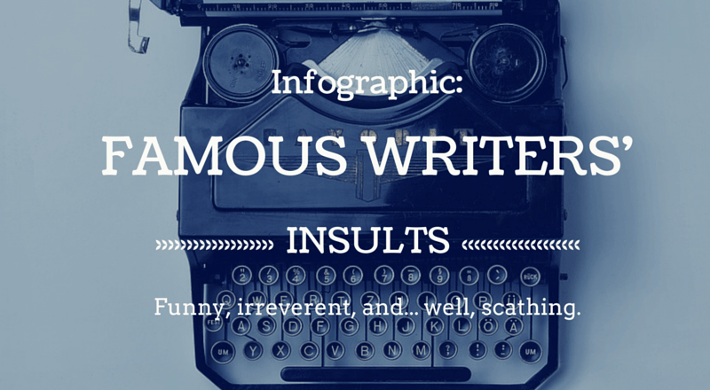 Infographic: Famous Writers' Insults