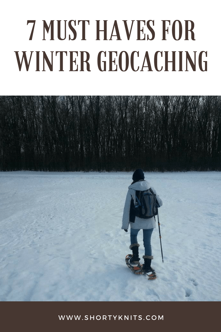 shortyknits winter geocaching