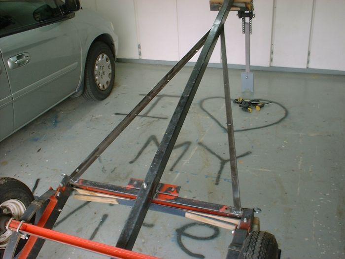 Setup Small Bolt Together Kit Trailer For Laser Sailboat