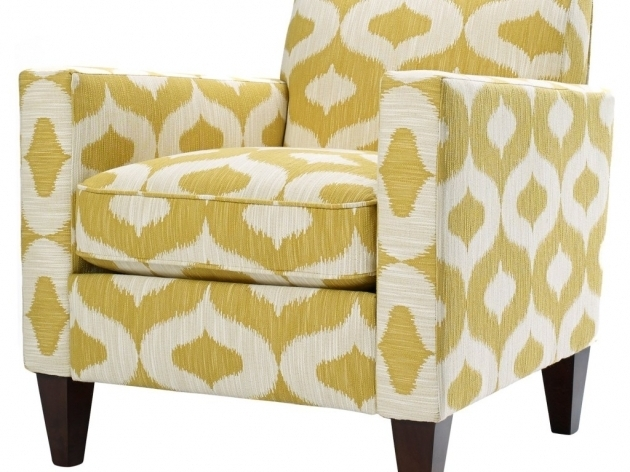 Yellow Accent Chair Arms