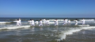 Beach karate training 2018 Den Haag