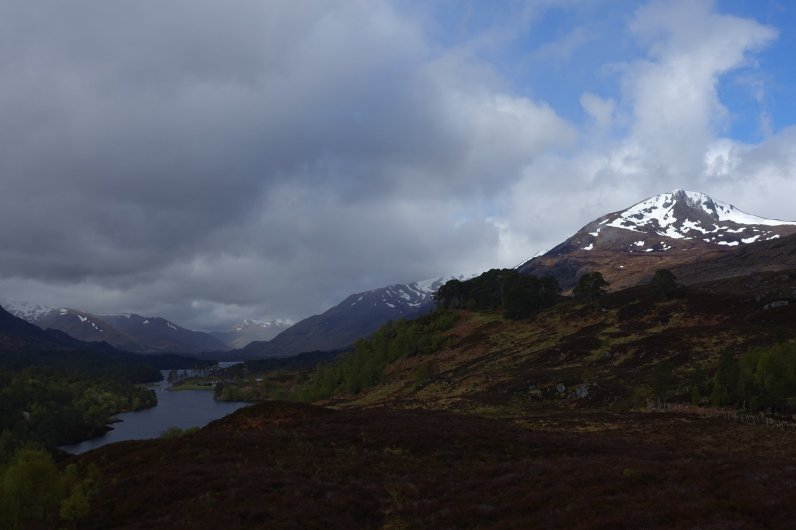Mountains and loch in Glen Affric