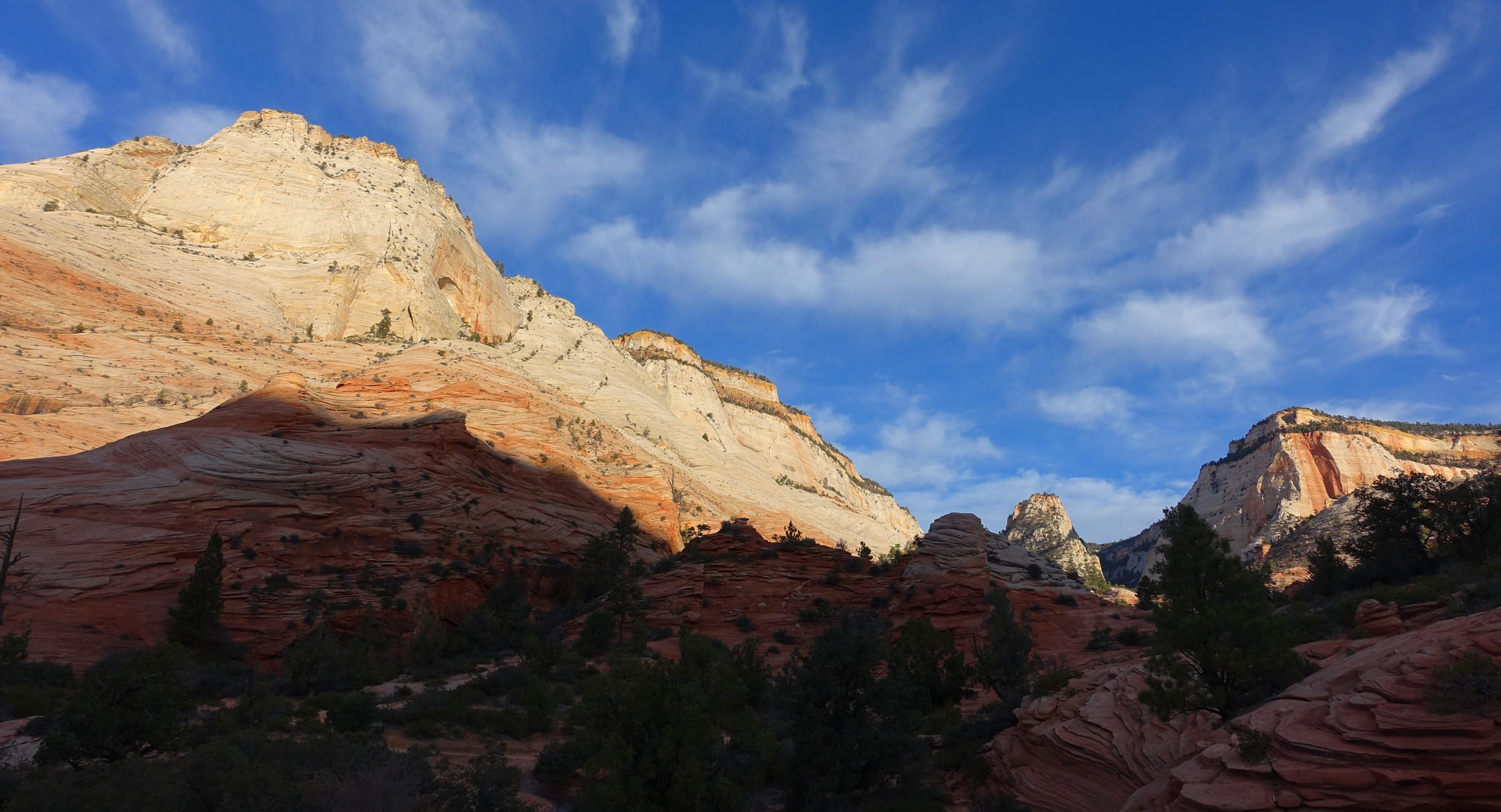Mountains and canyons along Zion-Mount Carmel Highway