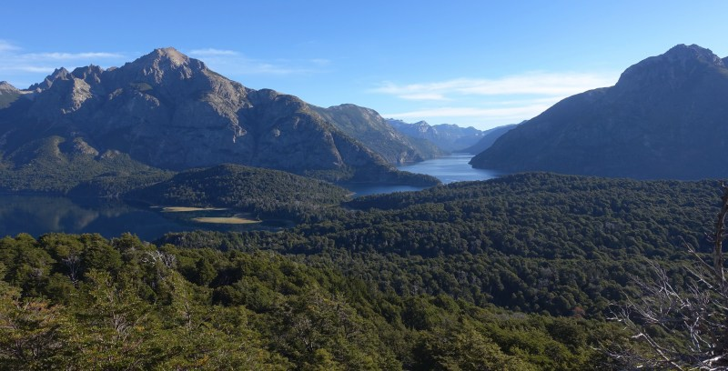 view of mountains and lakes from Cerro Llao Llao