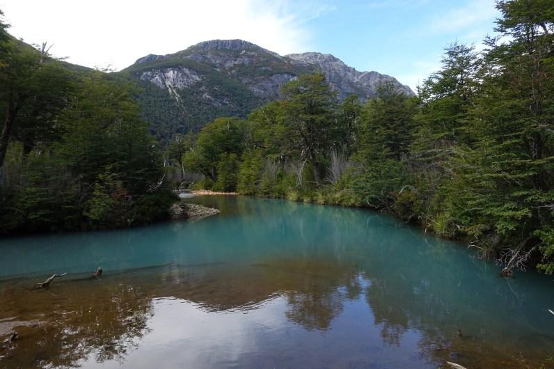 Deep blue waters of Rio Alerce