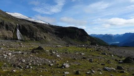 Waterfall basin above Paso de las Nubes