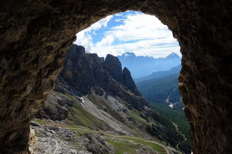 View from the Lagazuoi tunnels
