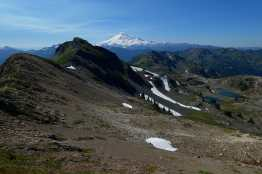Yellow Aster Butte, tarns, and Mount Baker