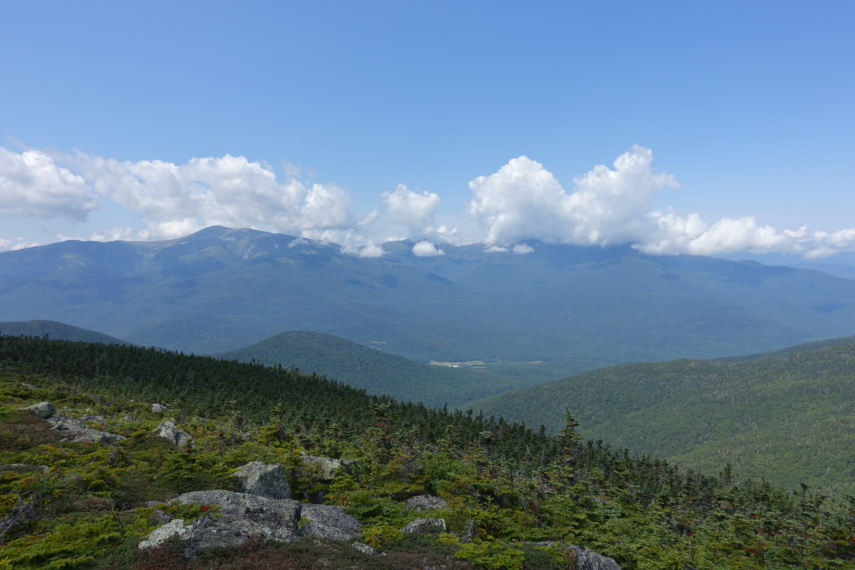 View of Mount Washington and the Northern Presidentials from Mount Hight