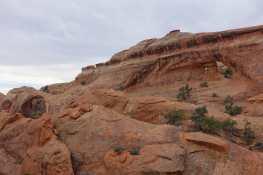 Landscape and Partition Arches, Arches National Park