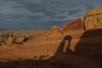 Delicate Arch shadow, Arches National Park