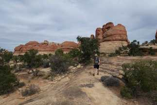Kyle hiking, Needles District, Canyonlands National Park