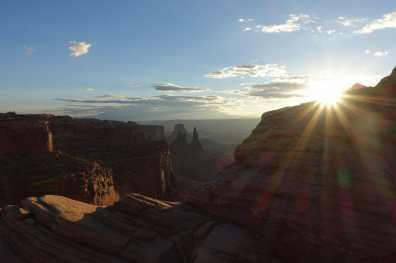 sunrise near Mesa Arch, Canyonlands National Park