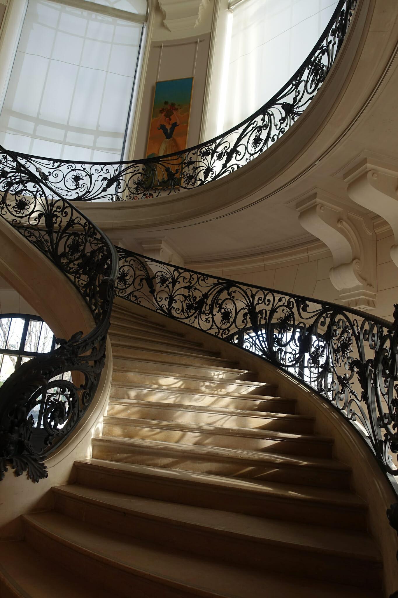 Spiral staircase in the Petit Palais - Musée des beaux-arts de la ville de Paris