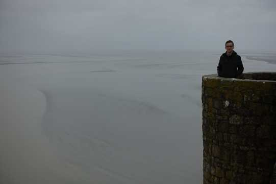Kyle at Mont Saint-Michel