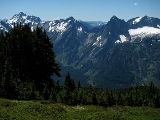 view of Cascade mountains from Mount Dickerman