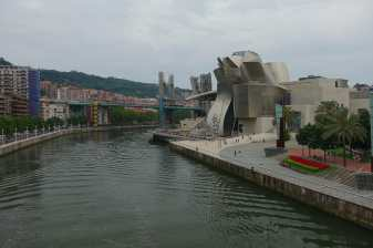 Guggenheim Bilbao and the Nervion River, from Pedro Arrupe Footbridge