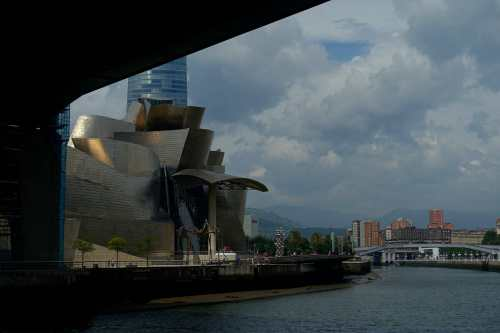 Guggenheim Bilbao and the Nervion river