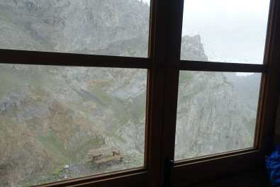 Looking out the window at Collado Jermoso
