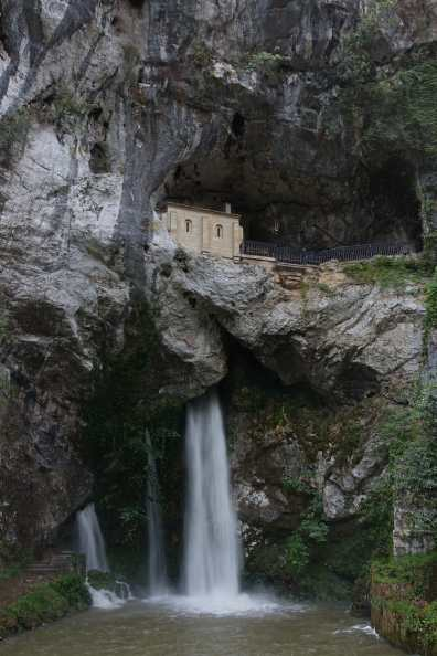 Waterfall below the Hermitage in Santa Cueva