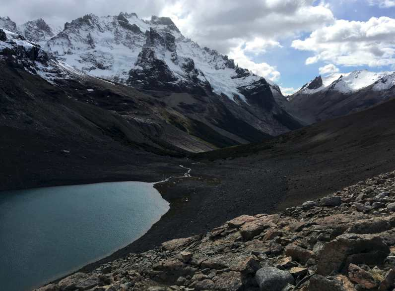 Overlooking Laguna Cerro Castillo and the glaciers of Cerro Castillo