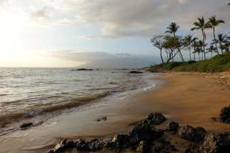 along the beach in Kihei