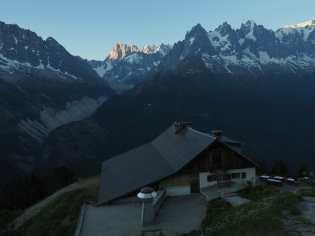 Flégère and mountains