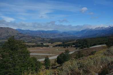 Winding road below Cerro Castillo Overlook