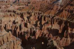 Hoodoos, including a natural arch, far below at Cedar Breaks National Monument