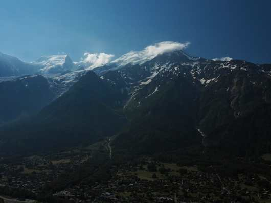 Views above Les Houches