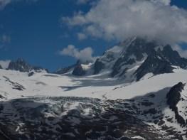 Glacier and peak views from Aiguillette des Posettes