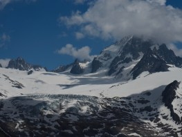 Glacier and peak views from Aiguillette des Posettes