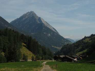 Between Champex and La Fouly, much of the TMB followed paths through villages