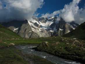 Stream in valley above Bonatti