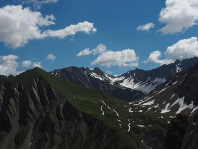 views on the way up Mont de la Saxe