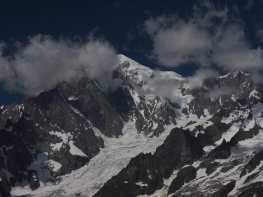 Mont Blanc from Mont de la Saxe