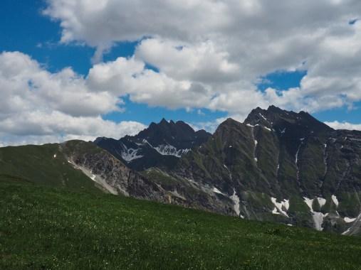 The long ridge from Mont de la Saxe provided more views
