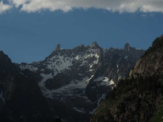 View from Hotel Croux, Courmayeur