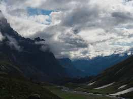 looking back on the way to Col de la Seigne
