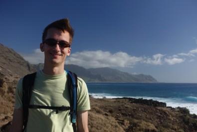 Kyle at Ka'ena Point